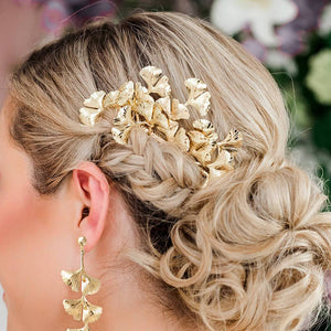 Gold Kiko Bridal Hair Comb from side