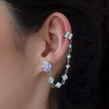 Load image into Gallery viewer, Rainbow Kira Crystal Ear Climber from side