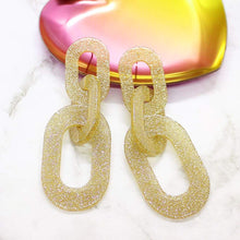 Load image into Gallery viewer, Locked Out of Heaven Glitter Earrings gold