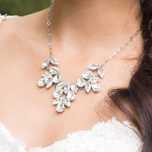 Load image into Gallery viewer, Crystal clear Marilyn Crystal Statement Necklace on neck