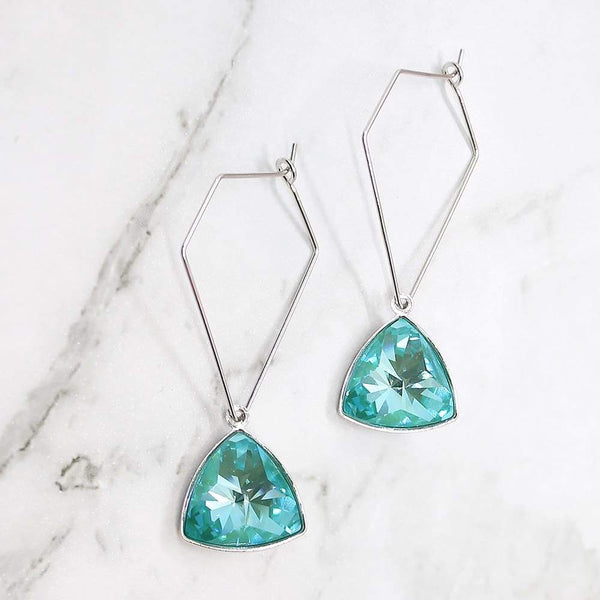 Normani Geometric Earrings in turquoise