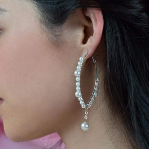 Off-white Ora Pearl Hoop Earrings from side