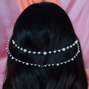 Off-white Ora Modern Pearl Crown from behind