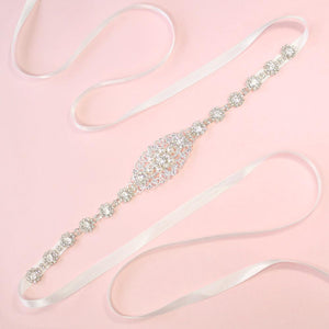 Silvia Sylvia Bridal Belt on pink