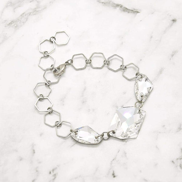 Sza Modern Crystal Bracelet on grey