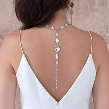 Load image into Gallery viewer, Sza Crystal Backdrop Necklace from back