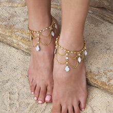 Load image into Gallery viewer, Gold Tallulah Bridal Anklets from top