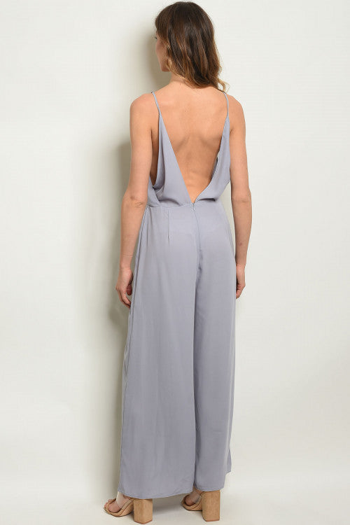 HOT SUMMER NIGHTS GREY JUMPSUIT