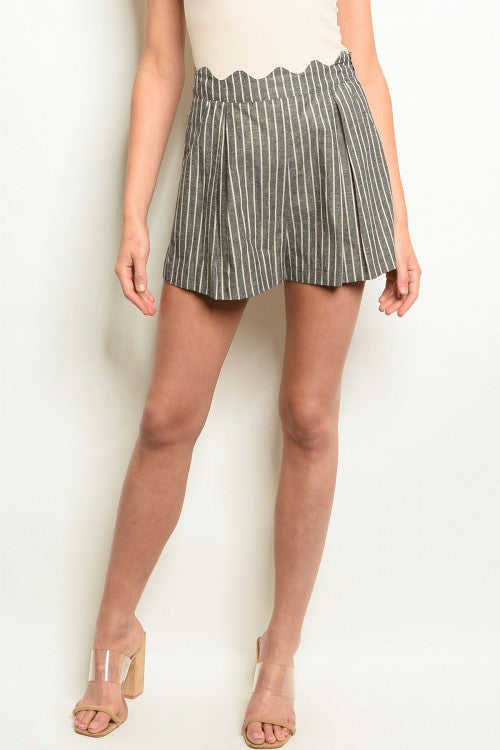 TO AND FRO BLACK STRIPED SHORTS