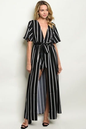 GIRLS JUST WANNA HAVE STRIPES - BLACK