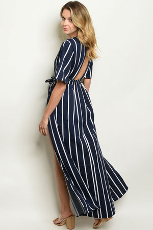 GIRLS JUST WANNA HAVE STRIPES - NAVY