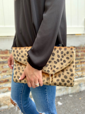 WILD SIDE CROSS BODY ENVELOPE CLUTCH