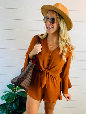 PUMPKIN AND SPICE ROMPER