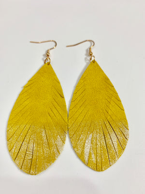 EASY DOES IT EARRINGS - YELLOW