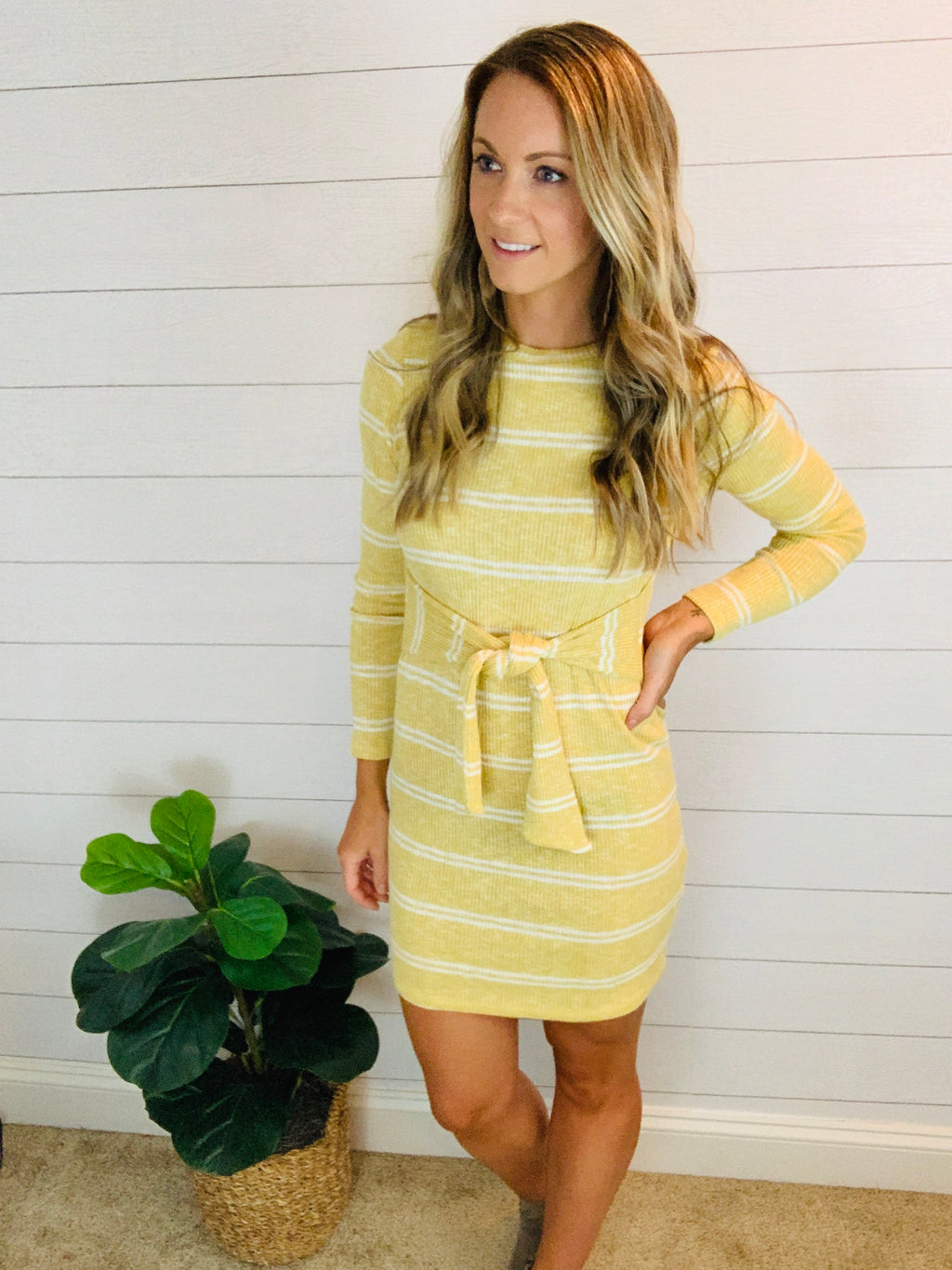 YOU ARE MY SUNSHINE KNIT DRESS
