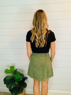 OLIVE YOU SO MUCH CORDUROY SKIRT