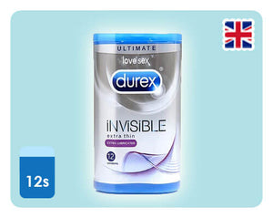 Durex Invisible Extra Lubricated 12s - Happy Mail Singapore
