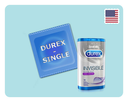 Durex Invisible Extra Lubricated 1s