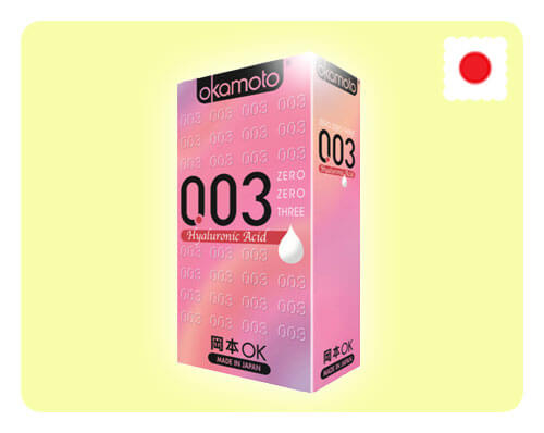 Okamoto 003 Hyaluronic Acid 10s - Happy Mail Singapore