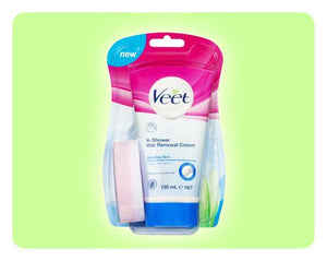 Veet In-Shower Hair Removal Cream - Sensitive Skin - 150ml - Happy Mail Singapore