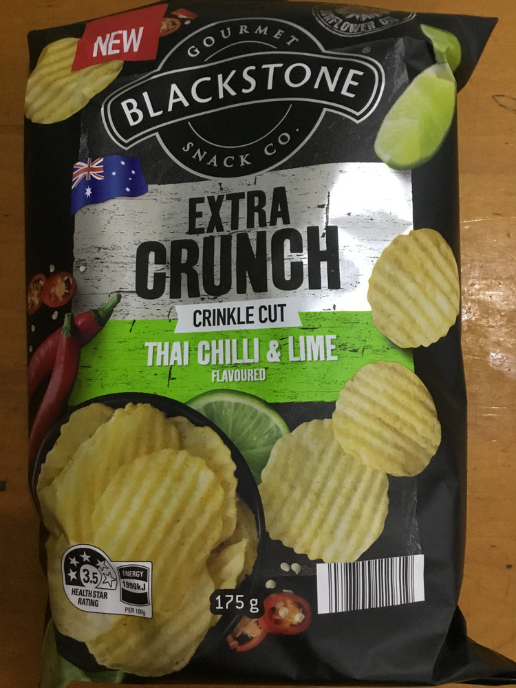 Load image into Gallery viewer, Blackstone Thai Chilli Lime Pepper and Sea Salt Chips 200g