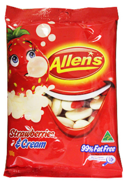Allens Smile Strawberries & Cream Lollies 190g