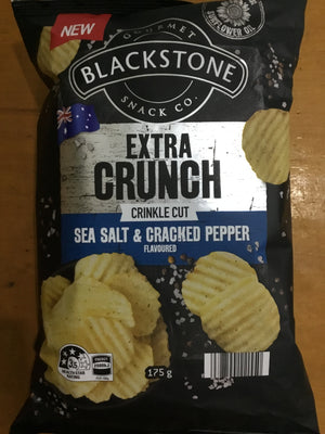 BOX (3) Blackstone Sea Salt & Cracked Pepper Chips 175g