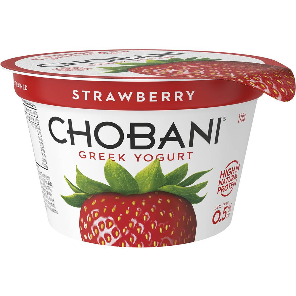 BOX (16) Chobani Strawberry Greek Yoghurt 170g