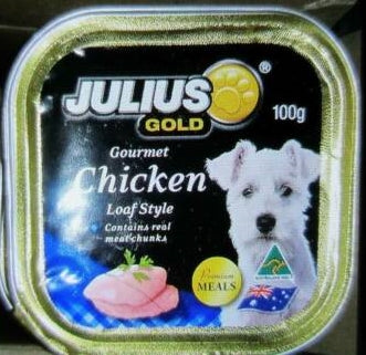 Julius Gold Chicken Loaf Style Dog Food 100g (16 PACK)