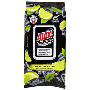 Load image into Gallery viewer, Ajax Charcoal Multi Purpose Wipes (110 in pack)