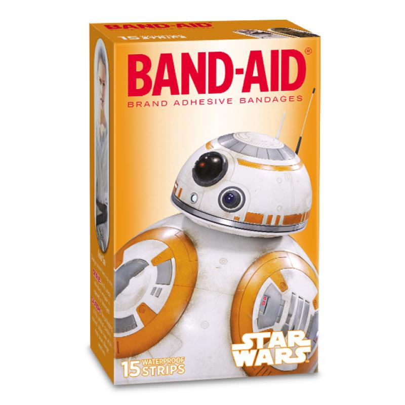 Johnson & Johnson Waterproof Band-Aid Star Wars (15) Strips