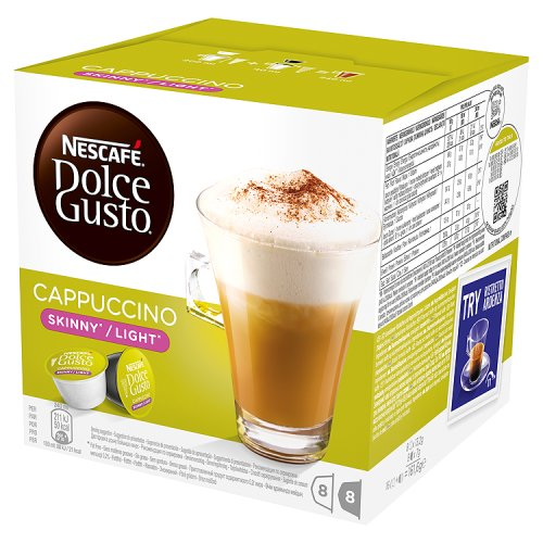 Nescafe Dolce Gusto Cappuccino (Skinny/Light) Coffee Capsules (16 pack)
