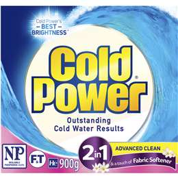 Cold Power Laundry Detergent 2-in-1 Fabric Softener 900g