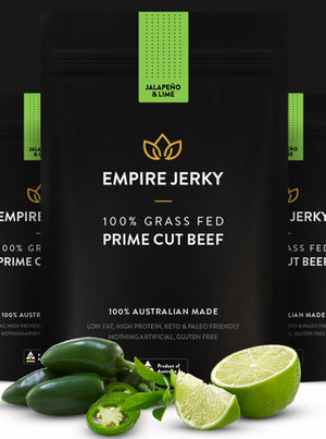 Empire Beef Jerky Jalapeno & Lime Flavour 50g