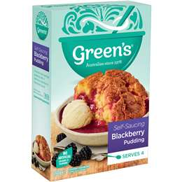 Greens Pudding Mix (Blackberry Sponge) 260g