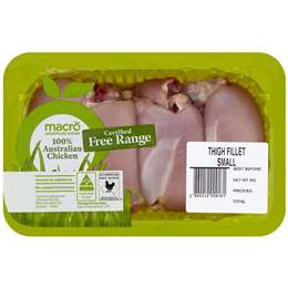 Chicken Thigh Fillets Macro Free Range (Frozen) 500g