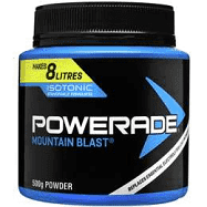 BOX (2) Powerade Mountain Blast Powder 500g