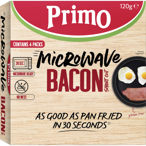Load image into Gallery viewer, Bacon Microwave Primo (Frozen) 120g