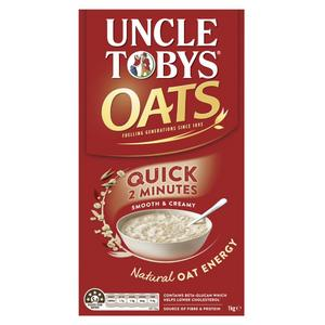Load image into Gallery viewer, Uncle Tobys Quick Oats Smooth & Creamy Porridge 1kg