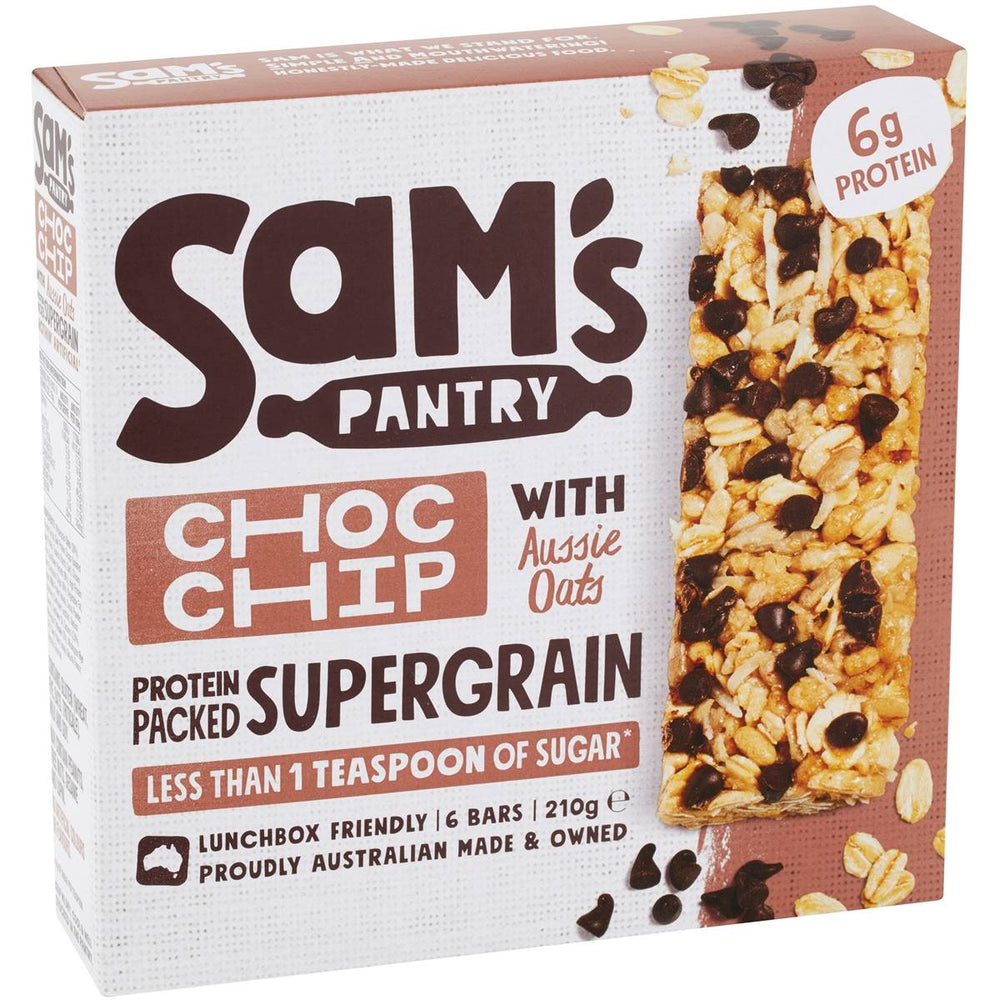 Sams Pantry Choc Chip with Aussie Oats Muesli Bars 210g
