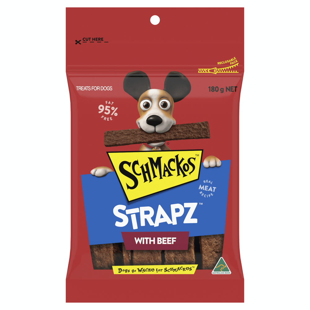 Schmackos Strapz with Beef Dog Treats 180g