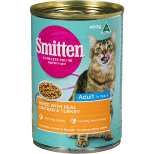 Smitten Cat Food Mince Chicken & Turkey 400g