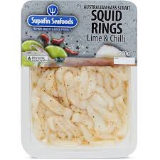 Squid Rings in Lime & Chilli (Frozen) 260g