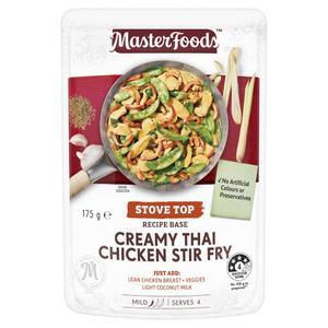 Load image into Gallery viewer, Masterfoods Stir Fry Creamy Thai Chicken Recipe Base 175g