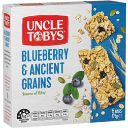 Load image into Gallery viewer, Uncle Tobys Blueberry & Ancient Grains Muesli Bar (5 Pack)