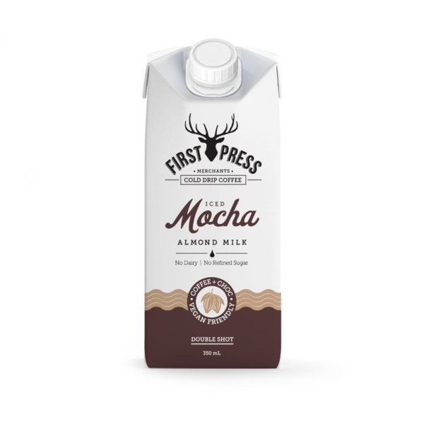First Press Iced Mocha Almond Milk Double Shot Iced Coffee 350ml