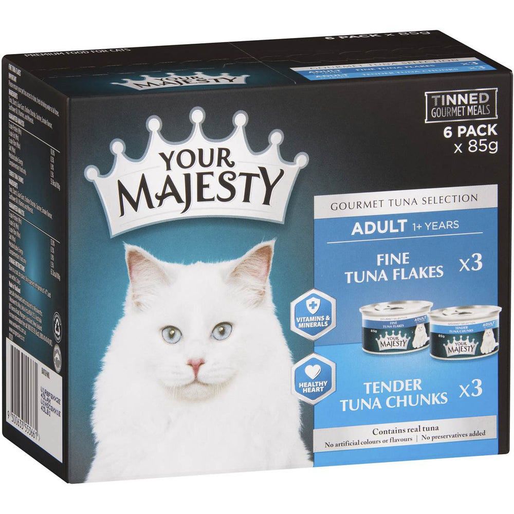 Your Majesty Cat Food Tuna Selection 85g (6 pack)