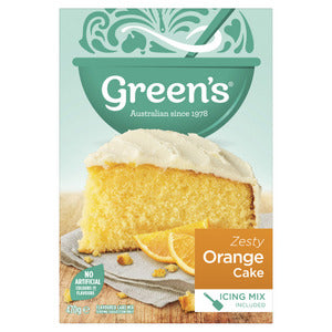 Greens Cake Mix (Zesty Orange) 470g