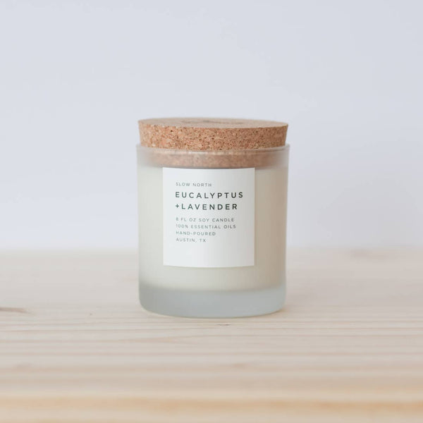 Organic Small-batch Handmade Eucalyptus + Lavender Scented candle