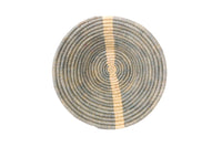 Fair Trade Opal Gray Striped Round Basket